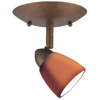 Serpentine Orbit 1 Light 5 inch Rust Semi-Flushmount Ceiling Light