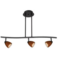 Cal Lighting SL-954-3-BK/AM Serpentine 3 Light 120V Black Rail Fixture Ceiling Light