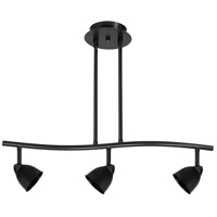 Cal Lighting SL-954-3-BK/CBK Serpentine 3 Light 120V Black Rail Fixture Ceiling Light