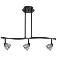 Cal Lighting SL-954-3-BK/CBS Serpentine 3 Light 120V Black Rail Fixture Ceiling Light