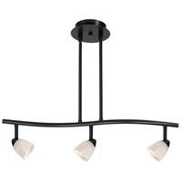 Cal Lighting SL-954-3-BK/WH Serpentine 3 Light 120V Black Rail Fixture Ceiling Light