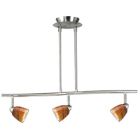 Cal Lighting SL-954-3-BS/AMS Serpentine 3 Light 120V Brushed Steel Rail Fixture Ceiling Light