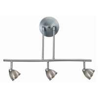 Cal Lighting SL-954-3-BS/CBS Serpentine 3 Light 120V Brushed Steel Rail Fixture Ceiling Light