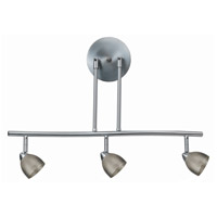 Cal Lighting SL-954-3-BS/MBS Serpentine 3 Light 120V Brushed Steel Rail Fixture Ceiling Light