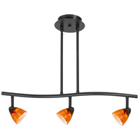 Cal Lighting SL-954-3-DB/AMS Serpentine 3 Light 120V Dark Bronze Rail Fixture Ceiling Light