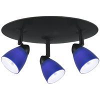 Cal Lighting SL-954-3R-BK/BL Serpentine Orbit 3 Light 12 inch Black Semi-Flushmount Ceiling Light