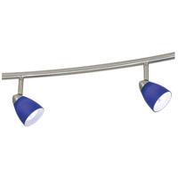 Serpentine 5 Light 120V Brushed Steel Rail Fixture Ceiling Light