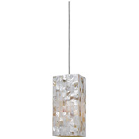 Cal Lighting UP-1029/6-BS Signature 1 Light 4 inch Brushed Steel Pendant Set Ceiling Light