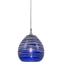 Cal Lighting UP-1065/6-BS Signature 1 Light 5 inch Brushed Steel Pendant Set Ceiling Light