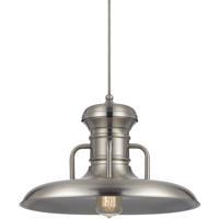 Cal Lighting UP-1110-6-BS Winter 1 Light 16 inch Brushed Steel Pendant Set Ceiling Light Line Voltage