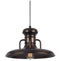 Cal Lighting Signature 1 Light 16 inch Rust Pendant Set Ceiling Light Line Voltage