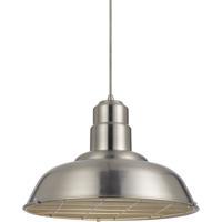 Cal Lighting Signature 1 Light 16 inch Brushed Steel Pendant Set Ceiling Light Line Voltage