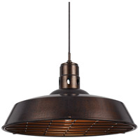 Cal Lighting UP-1112-6-RU Danberry 1 Light 20 inch Rust Pendant Ceiling Light