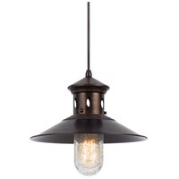 Cal Lighting UP-1115-6-RU Binghamton 1 Light 12 inch Rust Pendant Ceiling Light
