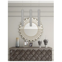 Cal Lighting UP-1116 Melini 1 Light 2 inch Brushed Steel Mini Pendant Ceiling Light, Tubular
