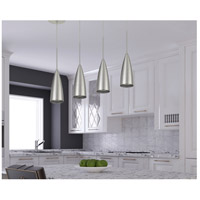 Cal Lighting UP-1118 Kalavasos 1 Light 3 inch Brushed Steel Mini Pendant Ceiling Light, Bullet