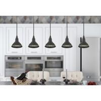 Cal Lighting UP-1119 Kampia 1 Light 5 inch Dark Bronze Mini Pendant Ceiling Light Lantern