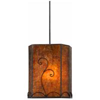 Cal Lighting UP-3549/6-BK Binghamton 1 Light 8 inch Black Pendant Ceiling Light