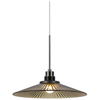 Signature LED 10 inch Brushed Steel And Oil Rubbed Bronze Pendant Ceiling Light, Uni Pack