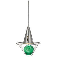 Signature LED 6 inch Brushed Steel Pendant Ceiling Light