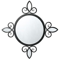 Winsor Iron 39 X 39 inch Brushed Steel Wall Mirror