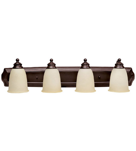 Capital Lighting Signature 4 Light Vanity in Mediterranean Bronze with Warm Faux Alabaster Glass 1014MBZ-130 photo