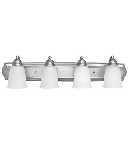Capital Lighting Signature 4 Light Vanity in Matte Nickel with Acid Washed Glass 1014MN-132 photo
