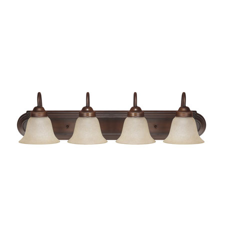 Capital Lighting Signature 4 Light Vanity in Burnished Bronze with Mist Scavo Glass 1034BB-256 photo