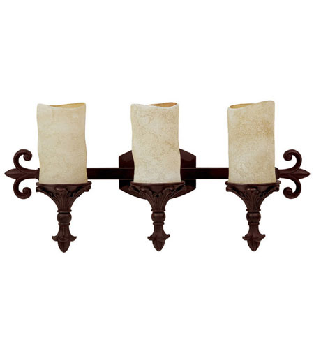 Capital Lighting Mediterranean 3 Light Vanity in Mediterranean Bronze with Rust Scavo Glass 1043MBZ-125 photo