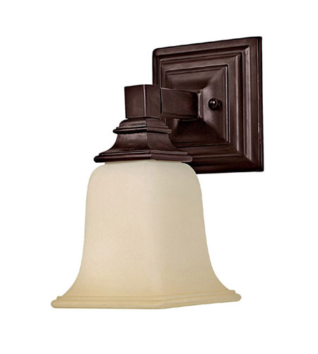 Capital Lighting Signature 1 Light Sconce in Mediterranean Bronze with Warm Faux Alabaster Glass 1061MBZ-140 photo