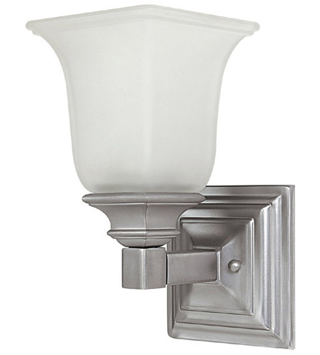 Capital Lighting Signature 1 Light Sconce in Matte Nickel with Acid Washed Glass 1061MN-142 photo