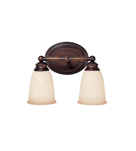 Capital Lighting Signature 2 Light Fluorescent Vanity in Burnished Bronze with Mist Scavo Glass 1082BB-133-GU photo