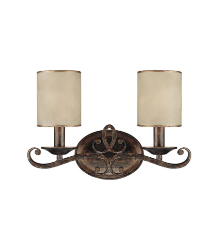 Capital Lighting 1117RT-510 Reserve 2 Light 15 inch Rustic Vanity Wall Light photo