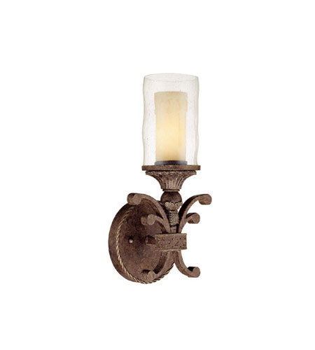 Capital Lighting Squire 1 Light Sconce in Crusted Umber with Seeded Glass 1121CU-286 photo