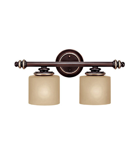 Capital Lighting Park Place 2 Light Vanity in Champagne Bronze with ChampaGne Glass 1132CZ-296 photo