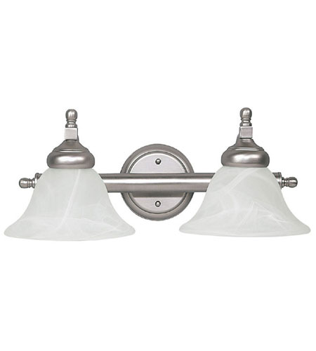 Capital Lighting Signature 2 Light Vanity in Matte Nickel with Faux White Alabaster Glass 1142MN-220 photo