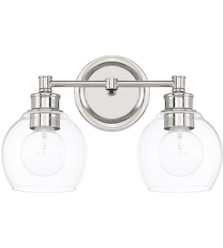 capital lighting 121121pn 426 mid century 2 light 15 inch polished