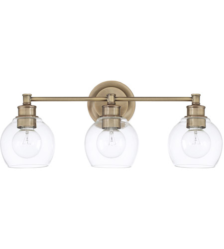 capital lighting 121131ad 426 mid century 3 light 24 inch aged brass