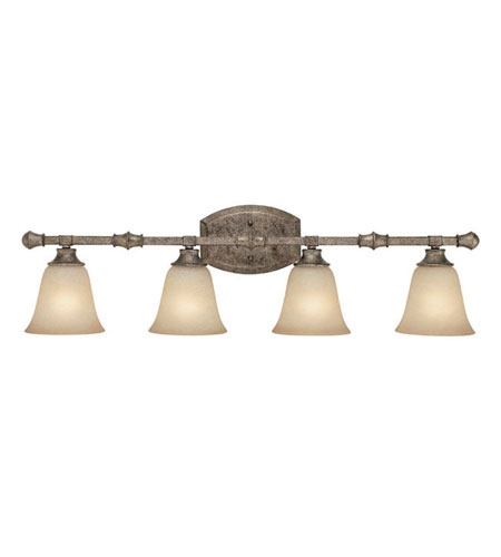 Capital Lighting Belmont 4 Light Vanity in Creek Stone with Mist Scavo Glass 1334CS-287 photo