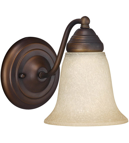 Capital Lighting 1361BB-297 Signature 1 Light 6 inch Burnished Bronze Vanity Wall Light in Mist Scavo photo