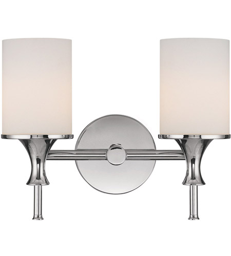 Capital Lighting Studio 2 Light Vanity in Polished Nickel with Soft White Glass 1397PN-105 photo