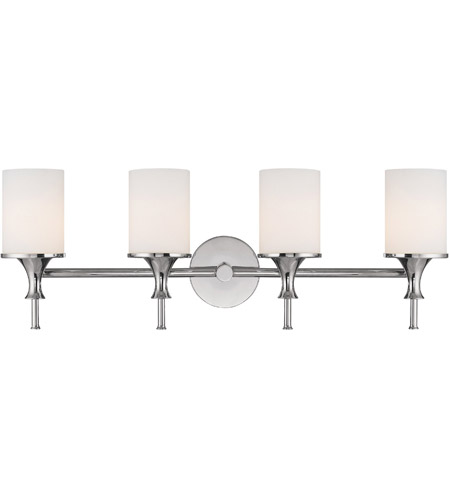 Capital Lighting Studio 4 Light Vanity in Polished Nickel with Soft White Glass 1399PN-105 photo