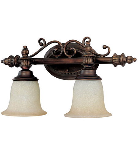 Capital Lighting Avery 2 Light Vanity in Burnished Bronze with Mist Scavo Glass 1702BB-291 photo