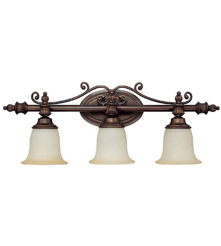 Capital Lighting Avery 3 Light Vanity in Burnished Bronze with Mist Scavo Glass 1703BB-291 photo