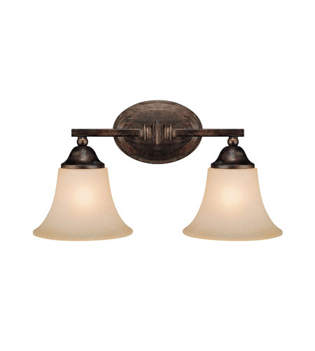 Capital Lighting Towne & Country 2 Light Vanity in Rustic with Mist Scavo Glass 1752RT-107 photo
