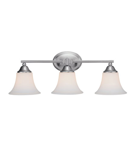Capital Lighting Towne & Country 2 Light Vanity in Matte Nickel with Soft White Glass 1753MN-114 photo