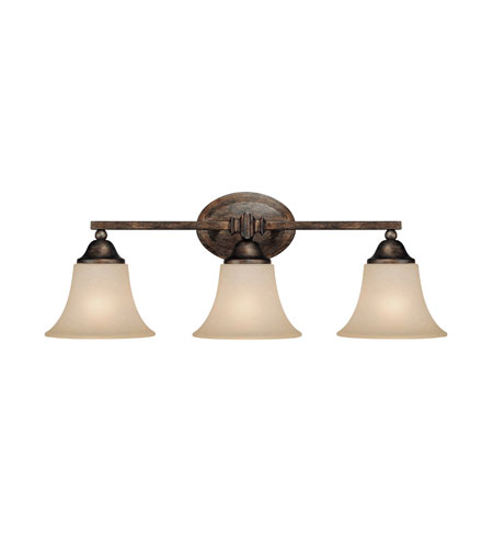 Capital Lighting Towne & Country 3 Light Vanity in Rustic with Mist Scavo Glass 1753RT-107 photo