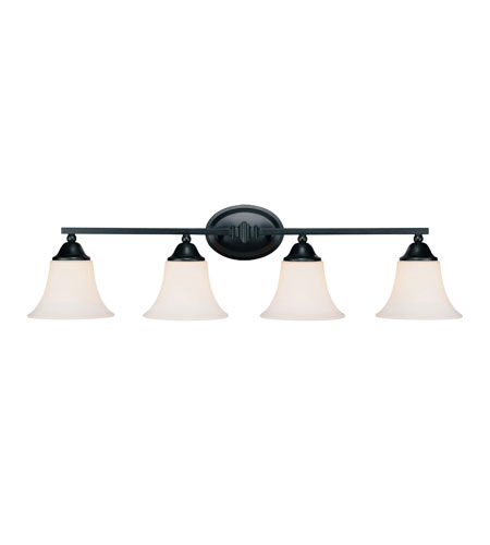 Capital Lighting Towne & Country 3 Light Vanity in Basic Black with Soft White Glass 1754BC-114 photo