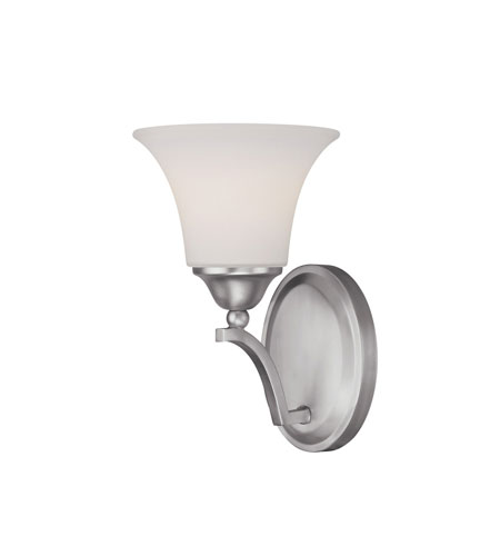 Capital Lighting Towne & Country 4 Light Sconce in Matte Nickel with Soft White Glass 1756MN-114 photo