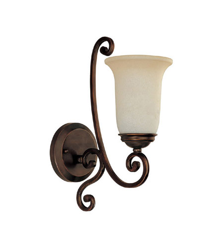 Capital Lighting Cumberland 1 Light Sconce in Burnished Bronze with Mist Scavo Glass 1761BB-251 photo
